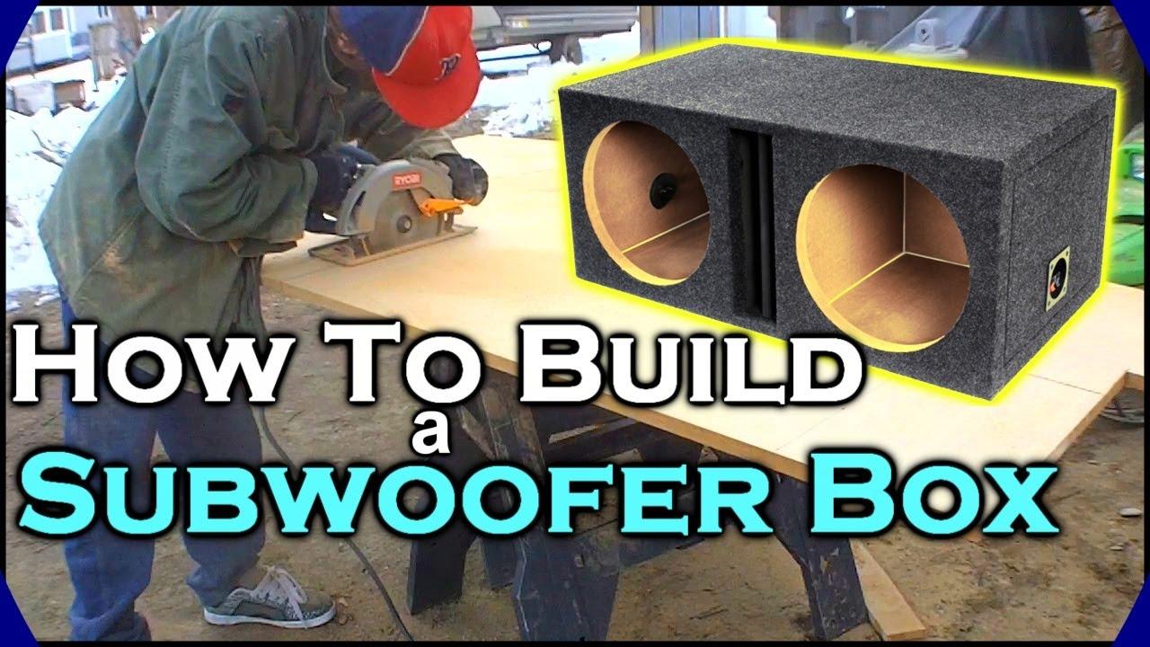 How To Build A Subwoofer Box | Beginner Car Audio Tutorial - Dual 12 Custom Ported Sub Enclosure