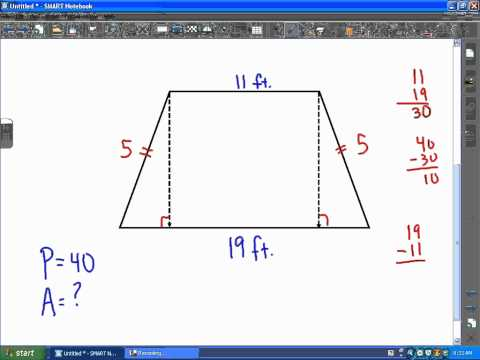 ACT Math: Geometry, Area of an Isosceles Trapezoid
