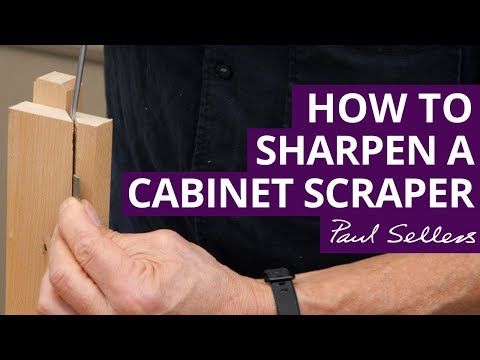 Cabinet Scraper Honing Guide | Paul Sellers