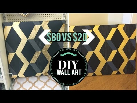 DIY Wall Decor   $80 Hobby Lobby geometric art →  $20 DIY!