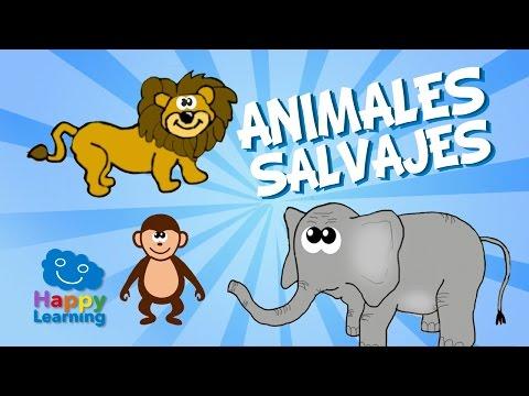 Wild Animals for Children   Learn Spanish