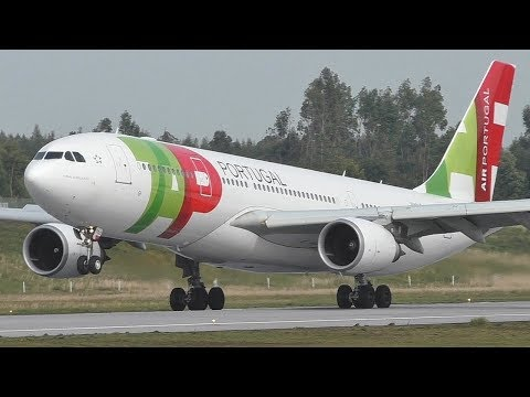 TAP Portugal A330-200 Landing at Porto Airport