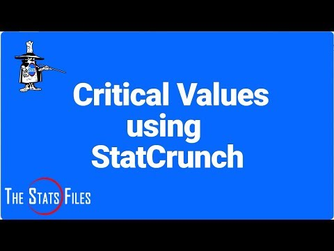 How to Find Critical Values of z and t Using StatCrunch