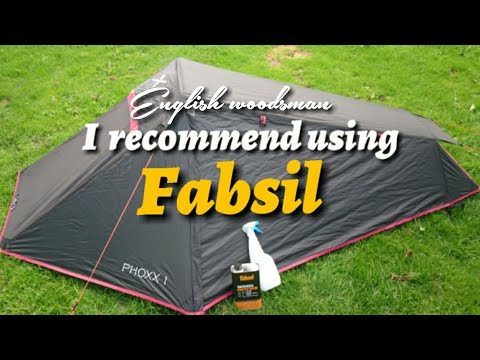 How to rewaterproof a tent or camping equipment using fabsil
