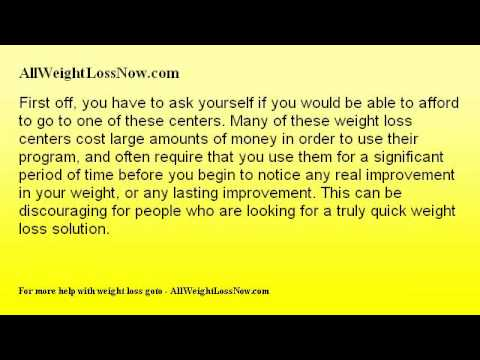 Quick Weight Loss Centers and if They Can Help You