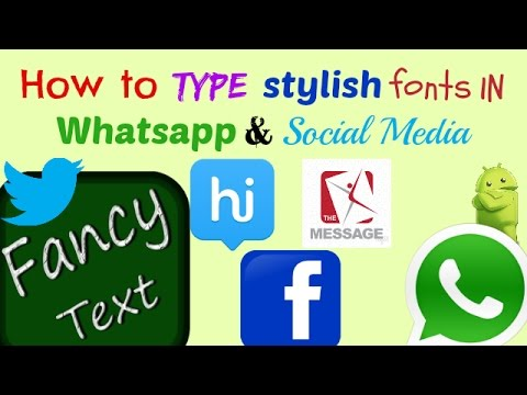 How To Change font style in Whatsapp,FB Messenger,Imo,! Telugu!