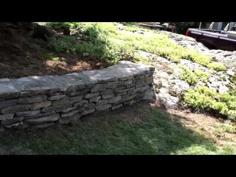Pennsylvania Flat Stone Dry Stacked Mortar Back