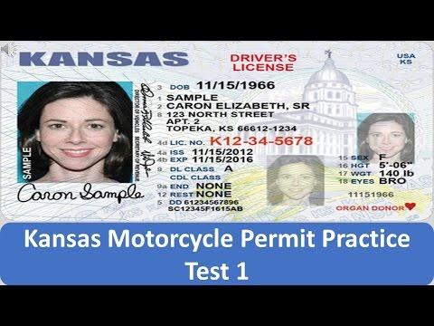 Kansas Motorcycle Permit Practice Test 1