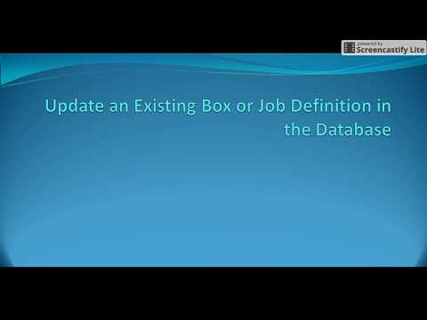 Autosys Tutorials: update_job attribute