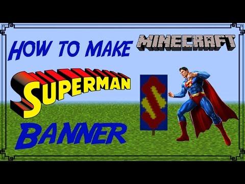 Minecraft | How to make Superman Banner | Mangoman