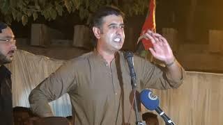 Syed Abdul Kadir Gillani Candidate NA154 addressing to public gathering at Gillani House Multan