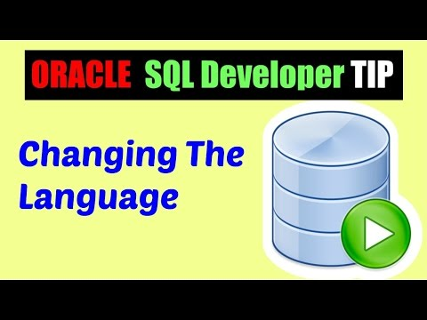 Oracle SQL Developer Tips : How to change the language