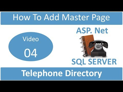 how to add master page in telephone directory