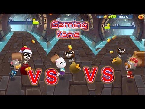 Talking Tom Gold Run - Catch The Raccoon Hyper Tom Vs King Tom Vs Neon Angela Android GamePlay IOS