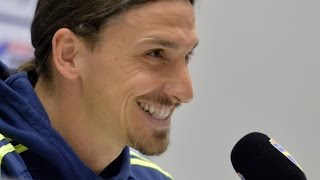 Zlatan Ibrahimovic Press Conference - Asked About Manchester United & Working With Jose Mourinho