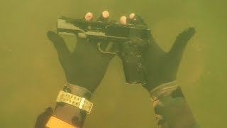 "Found ""Gun"" Underwater in River While Scuba Diving for Lost Valuables! (Dangerous Diving Spot)"