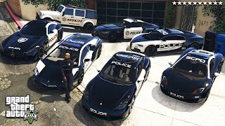 GTA 5 - Stealing POLICE Vehicles with Franklin! (Real Life Cars #108)