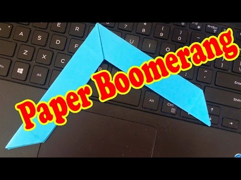 How To Make Boomerang That Comes Back Easy | Paper Boomerang