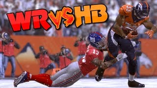 WIDE RECEIVERS vs HALFBACKS - GAME OF THE DECADE! Madden 17 Challenge