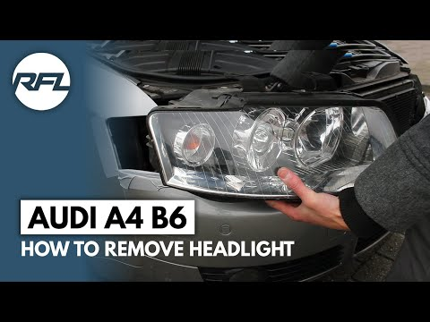 Audi A4 B6 how to remove headlight explained (to change bulbs)