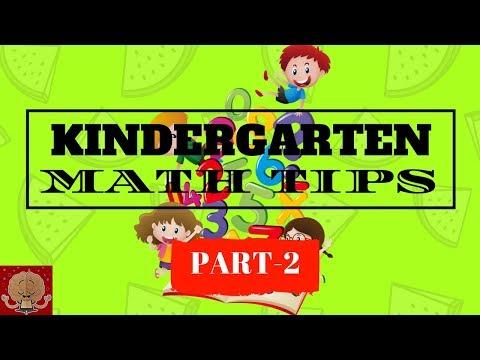 KINDERGARTEN MATH - PART 2 / MATHHELP/ MATHFACTS / FREE WORKSHEETS