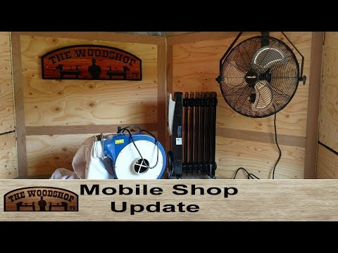 Mobile Shop Update! Newair Fan, Heater and Rikon Dust Collector