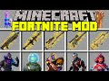 Minecraft FORTNITE MOD l THANOS, NEW WEAPONS, SKINS & SEASON 4 l Modded Mini-Game (Education)