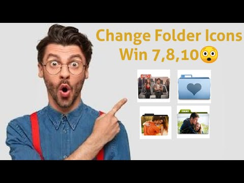 How to change folder icons in windows 7 ,8.1 with your own Photo