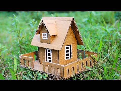 Small Cardboard House making