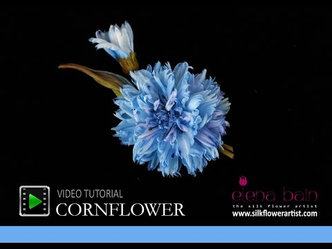 How no make silk flowers -Video tutorial Silk Cornflower