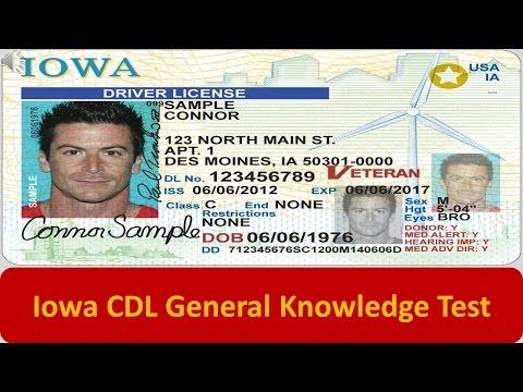 Iowa CDL General Knowledge Test