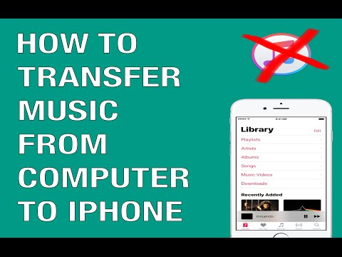 HOW TO TRANSFER MUSIC FROM COMPUTER TO IPHONE 7 (NO ITUNES REQUIRED)