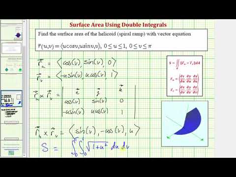 Double Integrals - Surface Area of a Vector Valued Function Over a Region