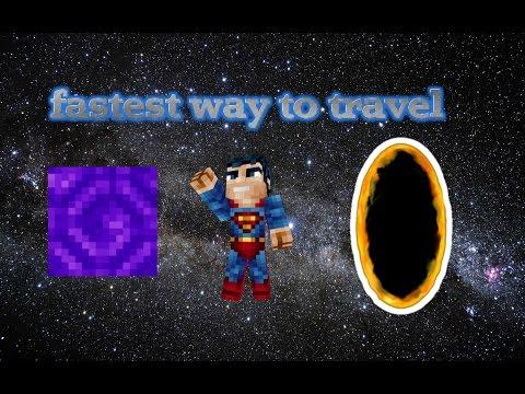 Fastest way to travel in Minecraft