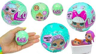 LOL Surprise Doll Blind Bags - Big & Lil Sisters + Bath Time Fizz Charm Baby Ball