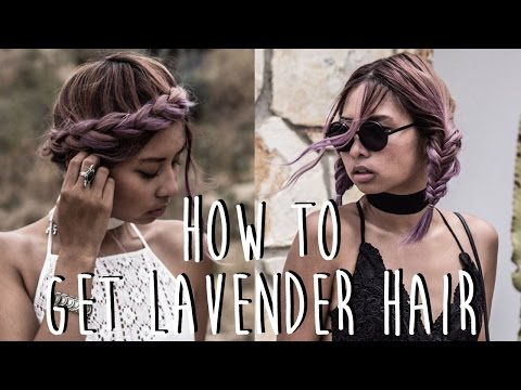 How To Get Lavender Hair: Manic Panic Blue Steel & Purple Haze Review + Demo