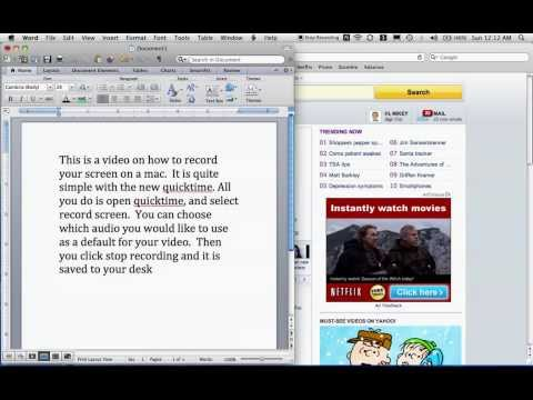 How to Screen Record on a Mac 2013