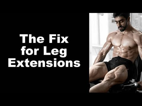 A FIX for Leg Extensions - How to do it without knee pain and build your quads