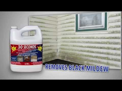 Cure for Moss, Algae, Mildew, Dirt Stains - 30 Seconds Outdoor Cleaner