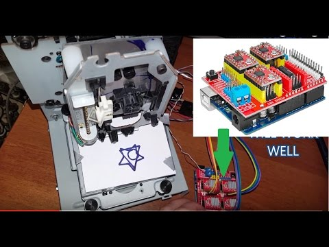 DVD CNC diy with ARDUINO CNC SHIELD v3.0 | GRBL | EASEL Software