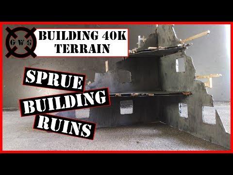 Building 40K Terrain - Sprue Building Ruins