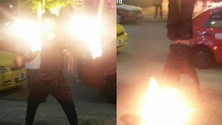 Playing With Fire - Circus Show With Fire by A Stuntman - Best Fire Show Videos #3