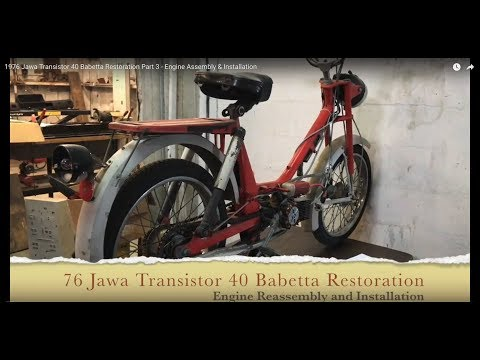1976 Jawa Transistor 40 Babetta Restoration Part 3 - Engine Assembly & Installation