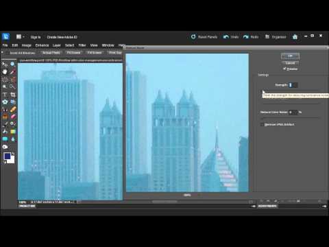 Learn how to reduce noise in Adobe Photoshop Elements 10