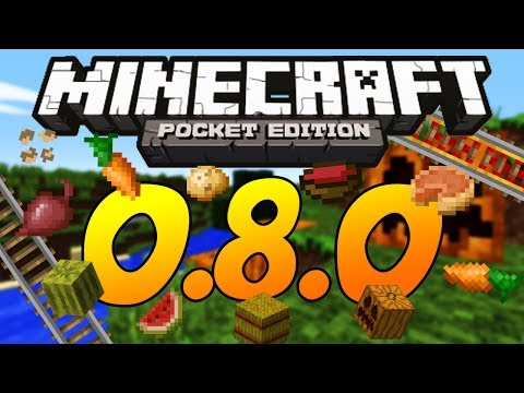 Minecraft Pocket Edition 0.8.0 Update Review - First Impressions (Rails, Potatoes, Beetroots)
