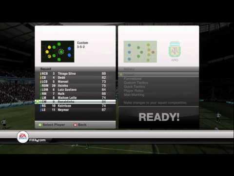 FIFA 12 Ultimate Team Custom Formation 352 Tutorial - Walkthrough