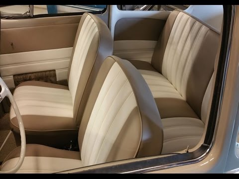 Classic Volkswagen Beetle Beige and White Vinyl Interior