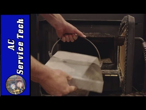 How to Clean Out a Wood Stove without Getting Ashes In the House!