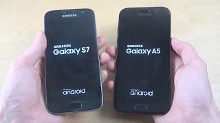 Samsung Galaxy S7 vs. Samsung Galaxy A5 2017 - Which Is Faster?!