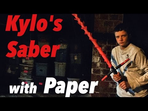 How to Make Kylo Ren's Lightsaber From STARWARS